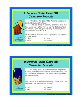 Differentiated Inference, Main Idea, & Theme Task Cards