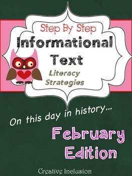 Differentiated Informational Text- February Edition!