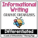 Differentiated Informative Graphic Organizers