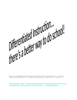 Differentiated Instruction ACTIVITIES for any content area