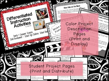 Differentiated Instruction Activities - Child Development: School Readiness