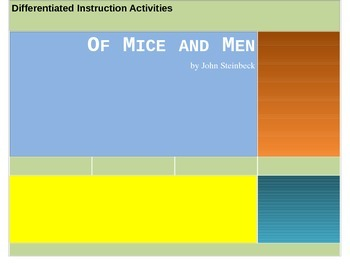 Differentiated Instruction Activities for Of Mice and Men