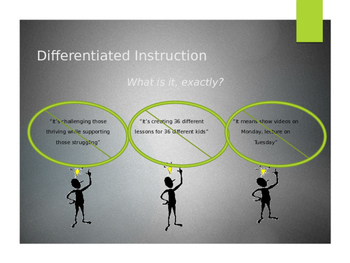 Differentiated Instruction CHEAT SHEET (10-slide PPT & handout for any teacher)