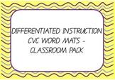 Differentiated Instruction - CVC Word Mats
