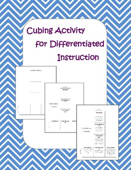 Differentiated Instruction - Cubing Activity (Blank and Examples)