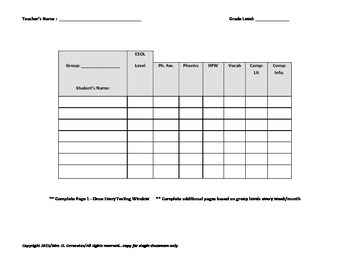 k-5 Differentiated DI Lesson Plan/Checklist aligned to Florida Standards
