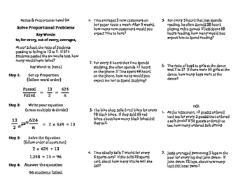 Ratio & Proportion Mini Lessons: Proportional Relationships