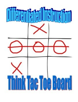 Differentiated Instruction Think Tac Toe