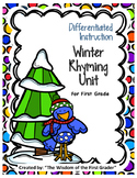 Differentiated Instruction Winter Rhyming Unit