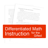 Differentiated Instruction for Gifted Math