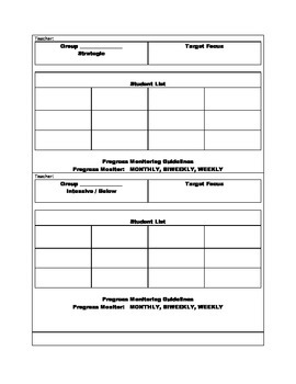 Differentiated Instructional Group Cards