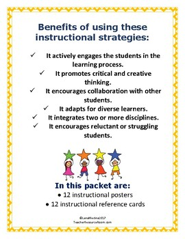 Differentiated Instructional Strategy Posters and Reference Cards