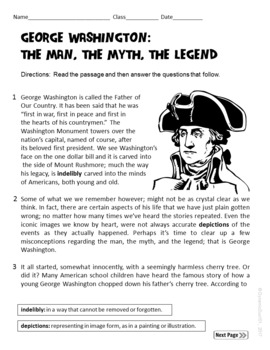 Differentiated Activities for any Picture Book of George Washington w/ Test Prep