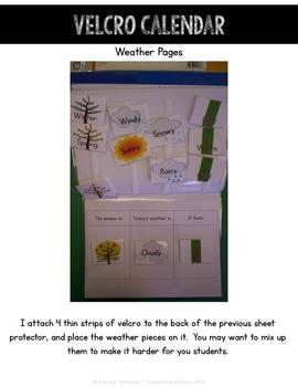 Differentiated Interactive Calendar Books Autism