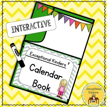 Differentiated Interactive Calendar Books Autism