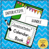 Differentiated Interactive Calendar Books with Alphabet and Numbers Pages Autism