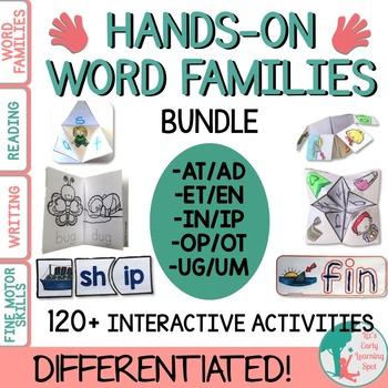 Word Families BUNDLE: Hands-On Activities (Differentiated