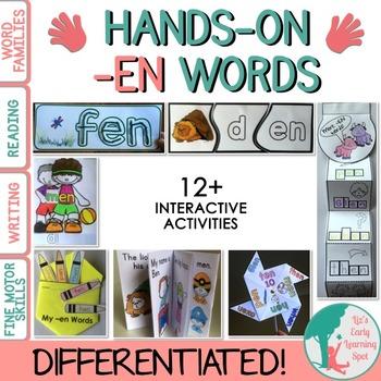 Differentiated Interactive Word Families: Hands-On -EN Activities