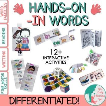 Differentiated Interactive Word Families: Hands-On -IN Activities