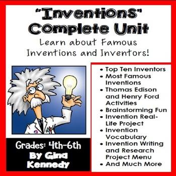 Complete Inventions Unit & Enrichment Projects, Thomas Edi