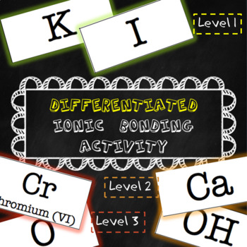 Differentiated Ionic Bonding Activity--Fully Editable!