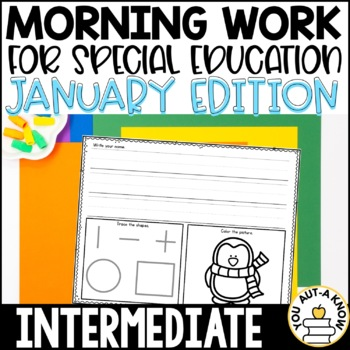 Special Education Morning Work: January Edition {Differentiated for 3 Levels!}