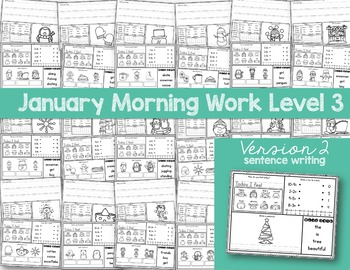 Intermediate Special Education Morning Work: January Edition {3 Levels!}