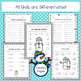 Differentiated January No Prep Math Printables