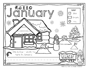 Differentiated January Writing Journals for K and 1st Grade
