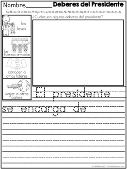 SPANISH February Journal Prompts