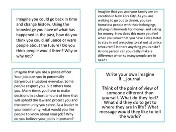 Differentiated Journal Prompts-Imagine if…