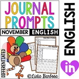 November Journal Prompts