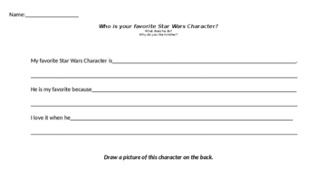 Differentiated Journal Writing- Star Wars Theme