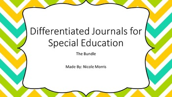 Differentiated Journals for Special Education-The Bundle!