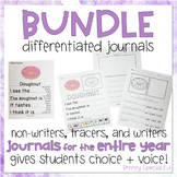 Differentiated Journal Prompts BUNDLE: Writing for Special Ed / Autism
