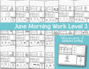Special Education Morning Work: June Edition {Differentiated for 3 Levels!}