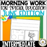 Intermediate Special Education Morning Work: June Edition {3 Levels!}