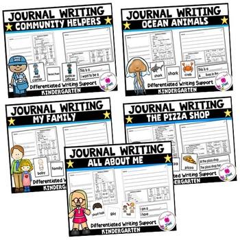 Kindergarten Journal Writing Differentiated Prompts- BUNDLE 1
