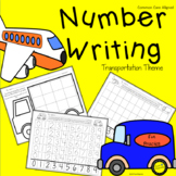 Differentiated Kindergarten Number Writing Practice Worksheets Transportation