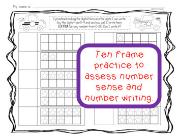 Differentiated Kindergarten Number Writing Practice Worksheets Transportation
