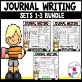 Kindergarten Writing Prompts Differentiated (Visuals & Sentence Frames)-BUNDLE
