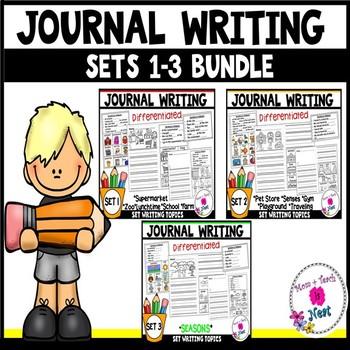 Kindergarten Journal Writing Prompts Differentiated- BUNDLE 1