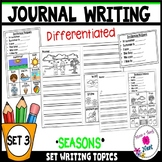 Kindergarten Writing Prompts Differentiated (Visuals & Sentence Frames)-Set 3