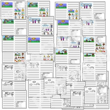 Kindergarten Journal Writing Prompts Differentiated- Set 3