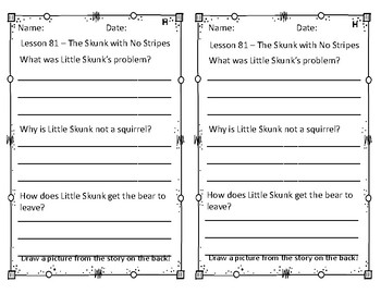 Differentiated LLI Comprehension Questions GREEN Lessons 81-89