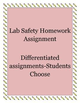 Differentiated Lab Safety Homework