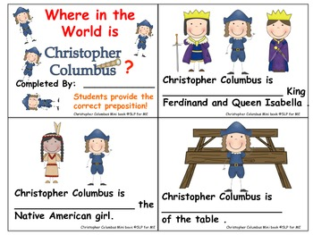 Differentiated Language Lessons to Celebrate Columbus Day