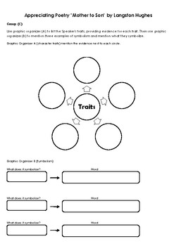 """Differentiated Learning Activity on Poetry -""""Mother to Son"""" &"""" Family Matters"""""""