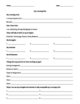 Differentiated Learning: Personal Template