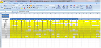 Differentiated Learning  Record Keeping Spreadsheet